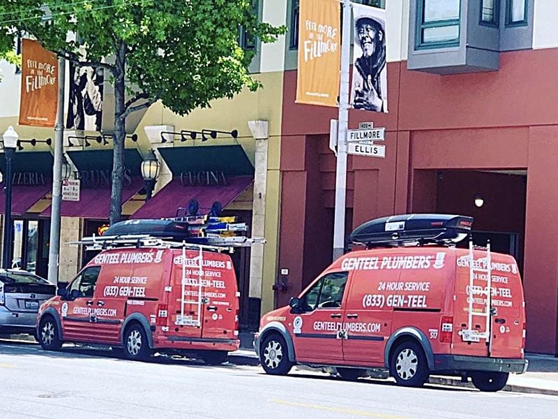 GENTEEL PLUMBERS Two Vans